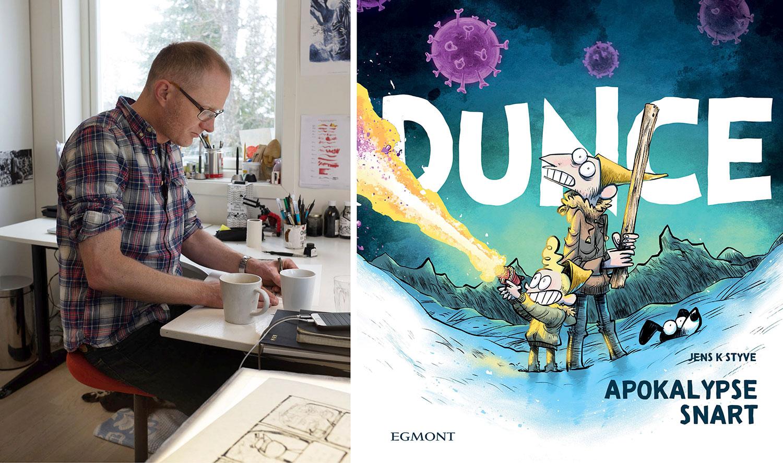 Tegneserieskaperne bak «Dunce» og «Hjemmefronten»: Kommer ikke utenom koronahumor i en ny hverdag